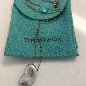 7144d9373 Tiffany & Co. Jewelry - Tiffany and Co Elsa Peretti Bean Necklace w/ pouch